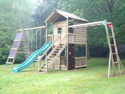 Gate Lodge Wooden Climbing Frame Play Action Tramps UK