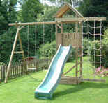 Arundel Wooden Climbing Frame Play Action Tramps UK