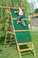 Carisbrooke Wooden Climbing Frame Play Action Tramps UK
