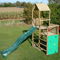 Monmouth Wooden Climbing Frame Play Action Tramps UK