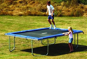 Gold Rectangular Z17 Trampoline UK Trampolines